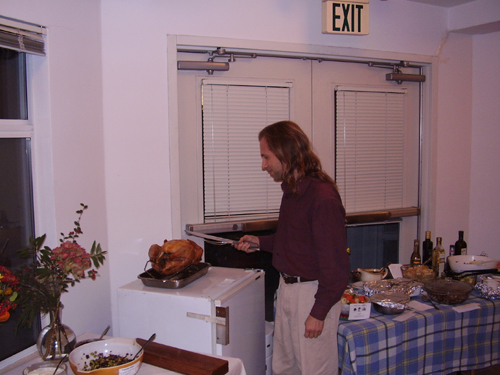 Michael carving the turkey
