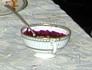Borscht served in bowl