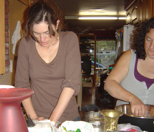 Jessica & Cyndi Making Tortillas