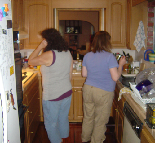 Cyndi & Monica in the Kitchen