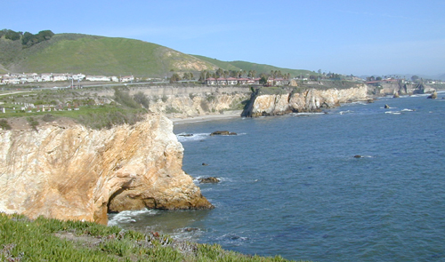 View from cliffs of Shell Beach