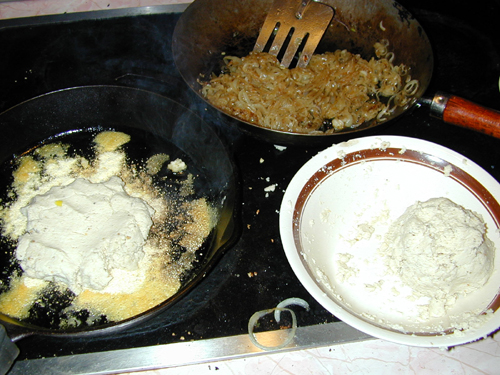 Masa in a pan