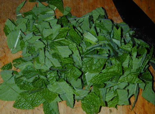 Chopped spearmint