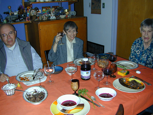 Connie offers a Passover toast