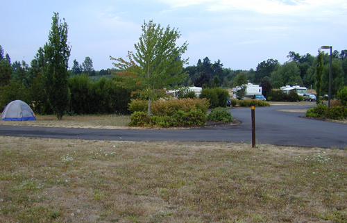 View to the right of our site