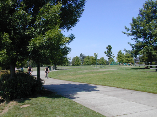 Grassy expanse at Riverfront Park