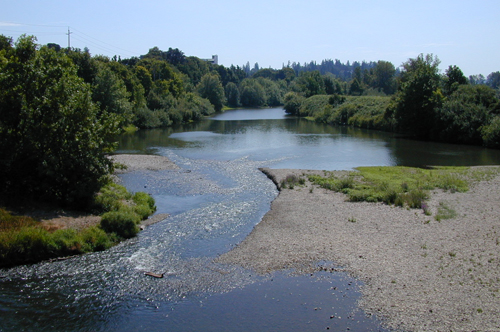Williamette River at the south end of Riverfront Park