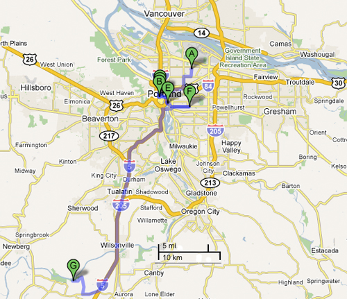 Portland Oregon And Surrounding Area Map Quotes