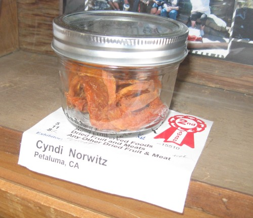 I won 2nd place for my dried apricots!
