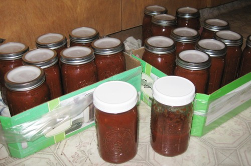 Finished marinara sauce