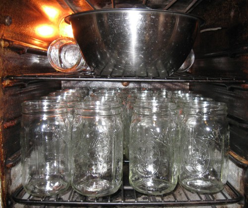 Sanitizing jars and lids for canning