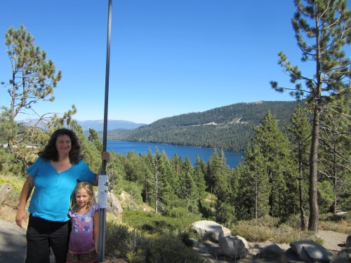 Cyndi & Miriam at Donner Lake