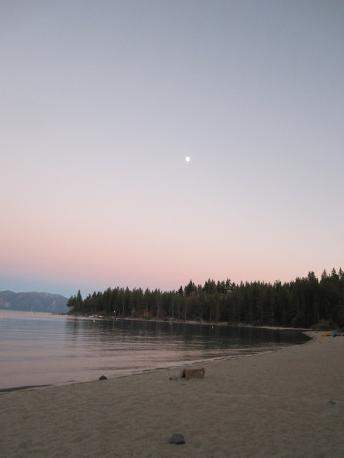 Meeks Bay with rising moon