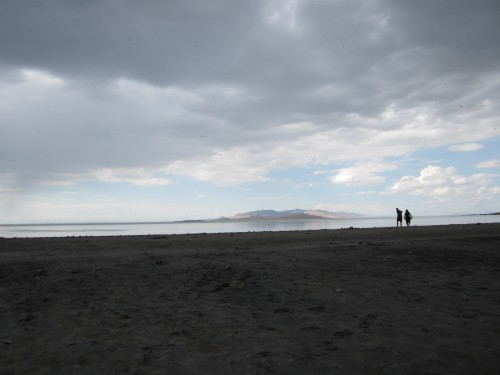 Bridgers Bay Beach on Antelope Island, UT
