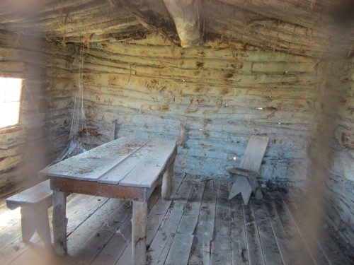 Wolfe Ranch cabin interior, Arches National Park, Utah