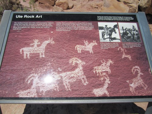 Ute Rock Art, Arches National Park, Utah