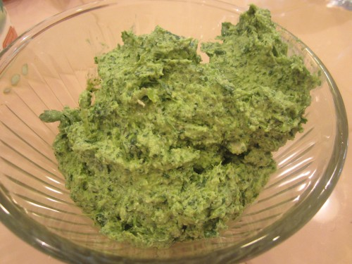 Finished pesto